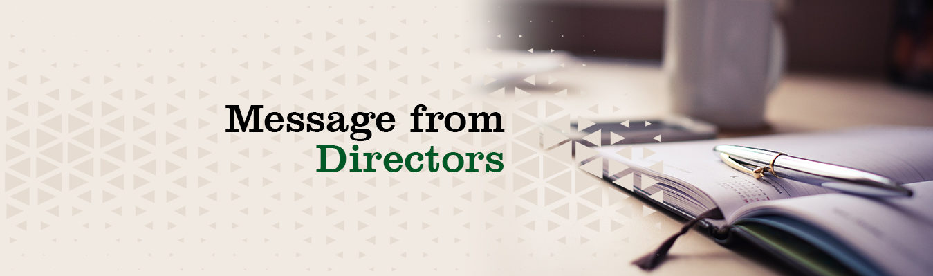 message from directors